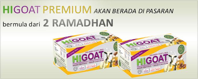 Hi-Goat PREMIUM : Susu Kambing + Madu Lebah + Isian Kurma = Khasiat Berganda