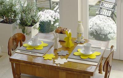 Decorazioni Pasquali Da Tavola : Decorazioni per la tavola di pasqua in feltro · pane amore e