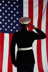 US Marine & American flag