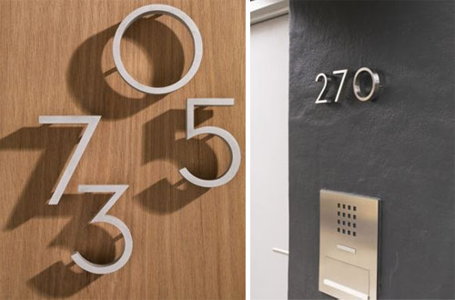 Mixathem snygga husnummer for Apartment number design
