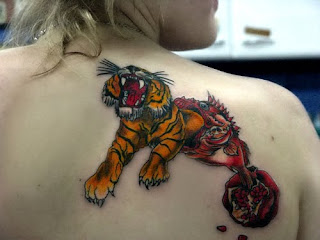 Tiger Tattoo On Body