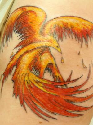 Hot Fire Phoenix Tattoos