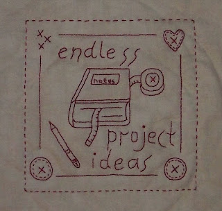 redwork stitchery that says endless project ideas