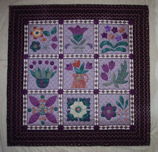 nine applique blocks wallhanging for Habitat Auction
