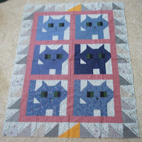 kitty quilt top