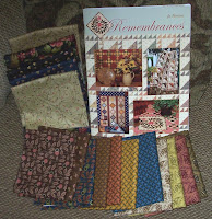 Remembrances book and fabric pieces from Coventry line