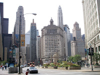 Downtown Chicago, Clock tower and Wrigley Building