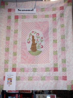 pink bunny quilt