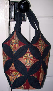 cathedral window bag won from Lurline's giveaway celebrating 200 posts