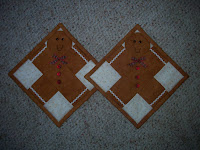 pair of gingerbread potholders