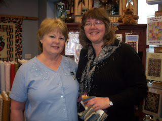 Kathy and I at The Quilted Cottage