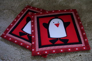 penguin potholders
