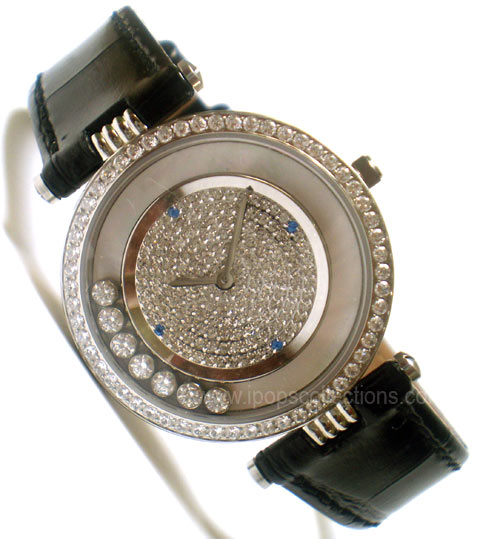 jam tangan bagus on Kode: Jam Tangan Branded Wanita - Chopard Dancing Diamond Black