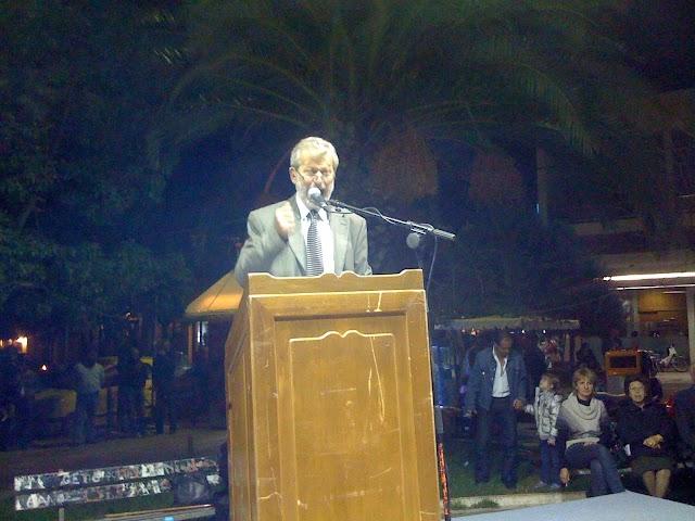 Ιστορική Παντριφυλιακή συγκέντρωση στην πλατεία Κυπαρισσίας
