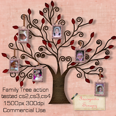 incognito 39 s scrapz new family tree photo frame action. Black Bedroom Furniture Sets. Home Design Ideas