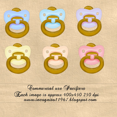 Pacifiers - By: Incognito's Scrapz Pacifier+freebie