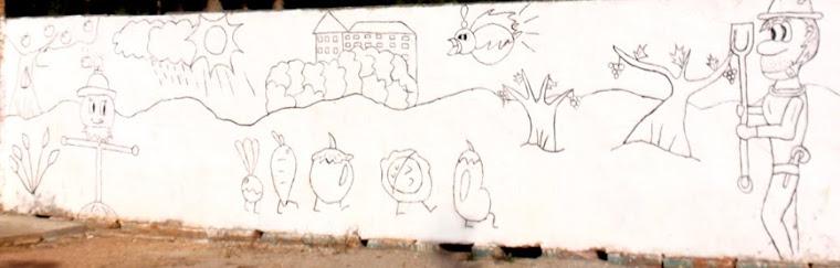 Dibuix del Mural Agenda 21