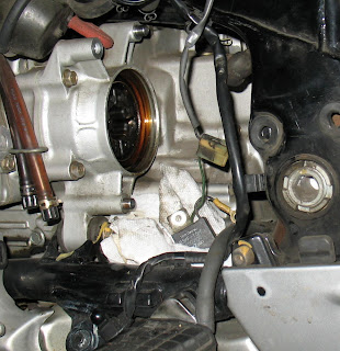 goldwing alternator hole