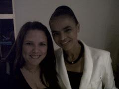 Mariana, minha filha,sábado, 18/09/2010, com a presidenciável Marina Silva