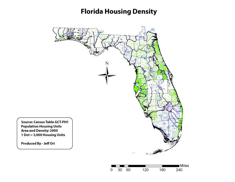 UWF Cartographic Skills Module Dot Proportional Map
