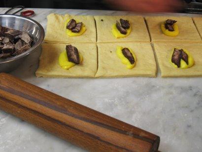 Preparação do Pain au Chocolat