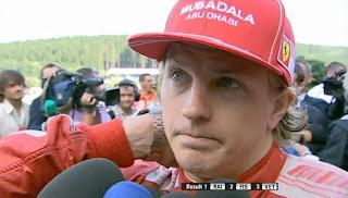 Kimi Räikkönen Spa Belgium 2009 post race interview