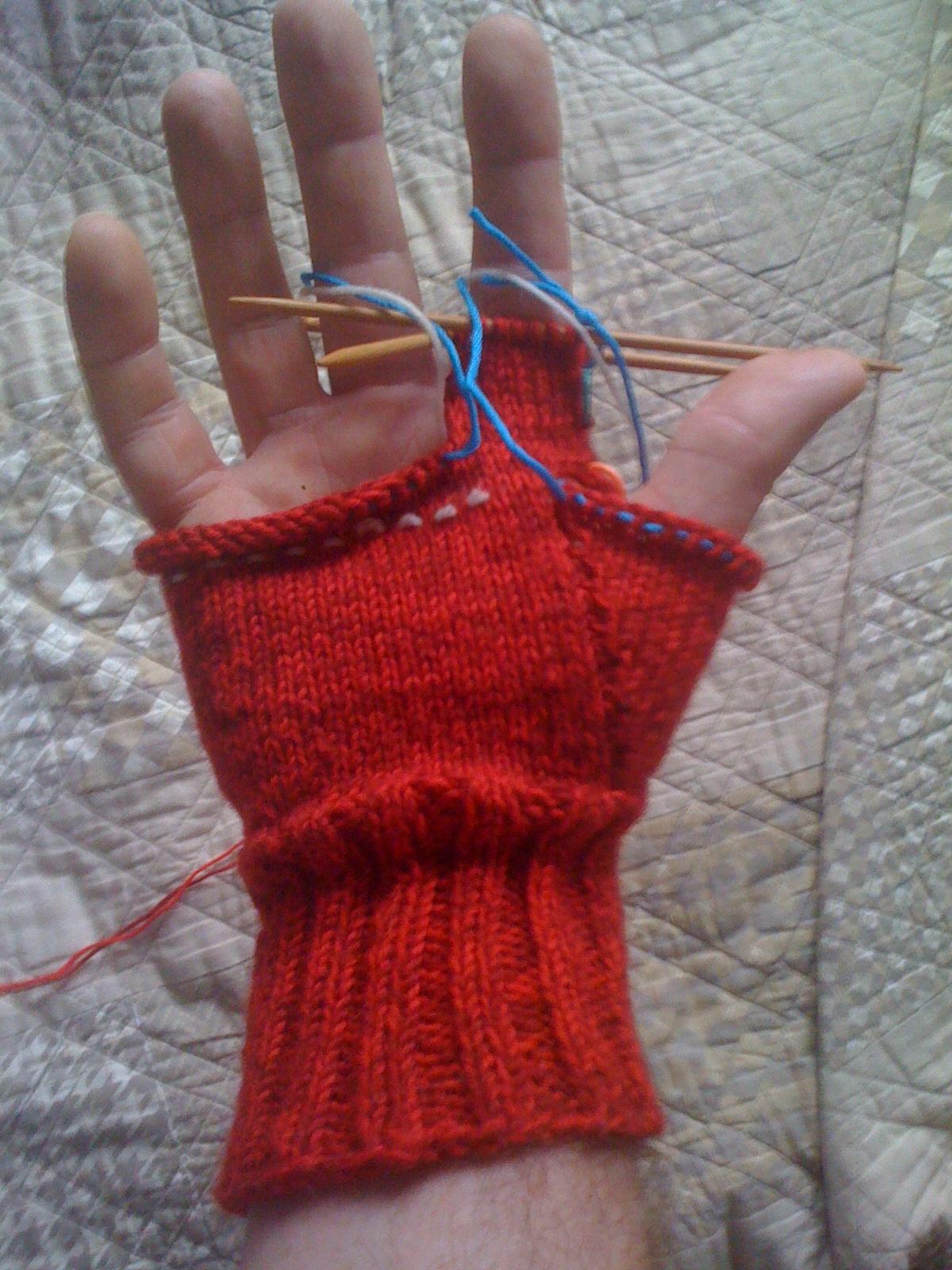 Tony\'s Knitting: Men\'s Fingerless Gloves