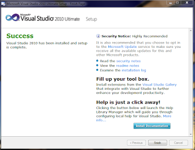visual studio installation screen 2