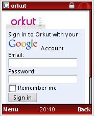 Orkut for Mobiles