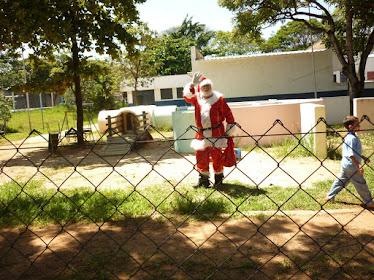 Obrigado Papai  Noel pela sua visita!