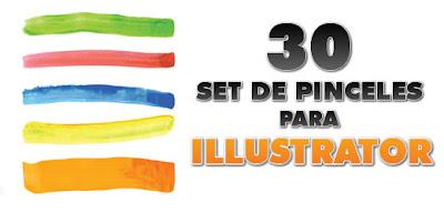 30 set de pinceles para Illustrator