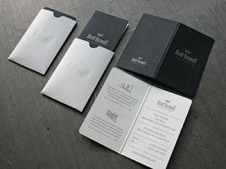 tarjetas de visitas blanco y negro