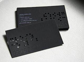 tarjetas de visitas negro