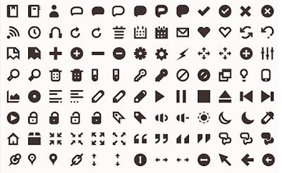 iconos minimalistas para diseño web