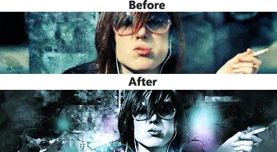 efecto con  photoshop