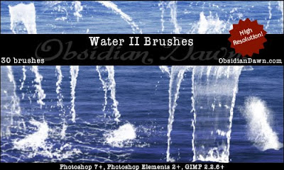 cataratas agua pincel