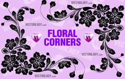 Flower ornaments  Flor adornos vectores