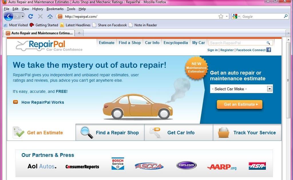 Repairpal Car Repair Sheets
