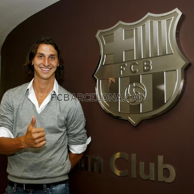 Ibrahimovic arriving in Barcelona (picture special)