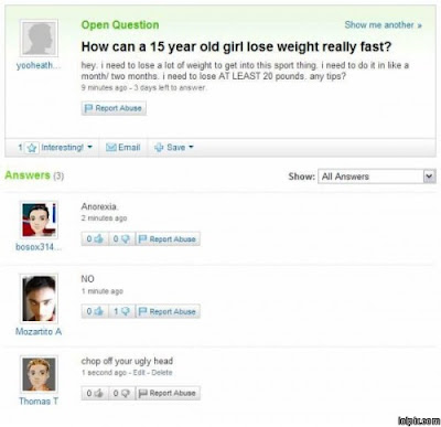 yahoo answers funny. Funny Yahoo Answers