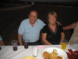 Rosa y Manolo(yo) en el bautizo de Manuel(Agosto 2008)