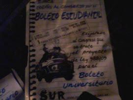 BOLETO ESTUDIANTIL. 988/09