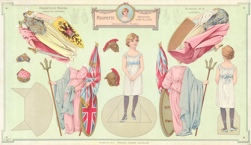 allies of world war 1. World War I paper dolls