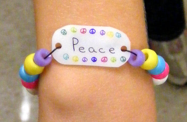 string relief tie bracelet bullying products anti bead