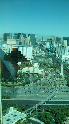 View from the top of Mandalay Bay; Four Seasons Hotel