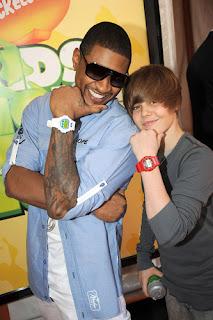 Justin e Usher Juntos