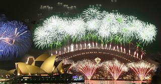 fim de ano australia sydnei festa reveillon muitos fogos