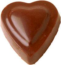 chocolate para presente formas de coração