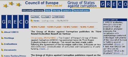 Grupul de state impotriva coruptiei (GRECO)