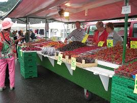 il mercato della frutta a Bergen